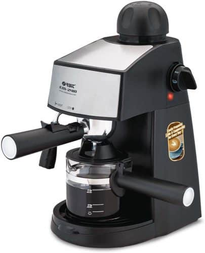 Orbit Steam Espresso Maker 800-Watt Espresso 4-Cup Coffee Maker