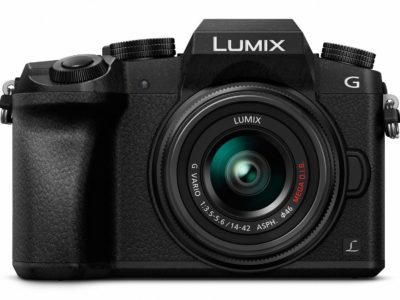 PANASONIC LUMIX G7 4K Mirrorless Camera with 14-42mm MEGA O.I.S. Lens, 16 Megapixels, 3 Inch Touch LCD, DMC-G7KK (USA BLACK)