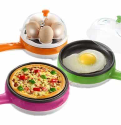 PETRICE 2 in 1 Multifunctional Electric Mini Egg Boiler Device