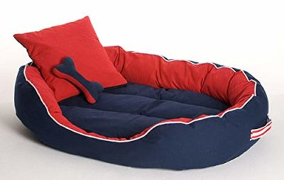 Petshub Elite Ultra Soft Reversible Bed with 2 Extra Pillows