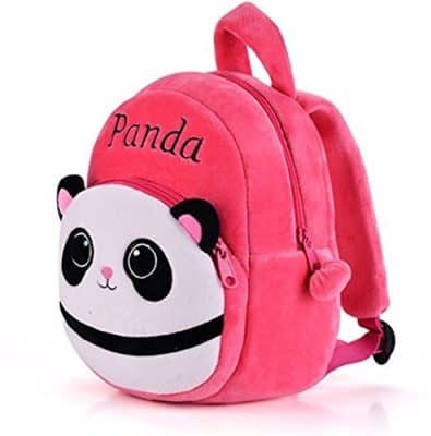 Pandora Velvet Panda Design School Bag for 2 to 5 Age Kids