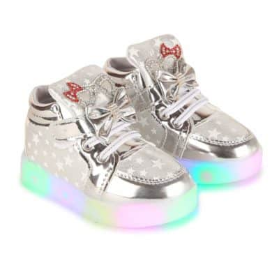 Passion Petals Baby Toddler/Little Girl Led Light Star Light Shoes - Grey