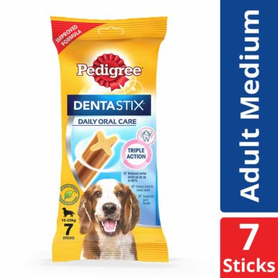 Pedigree Dentastix, Oral Care Dog Treat for Adult Small Breed (5-10kg) Dogs - 110 g Weekly Pack