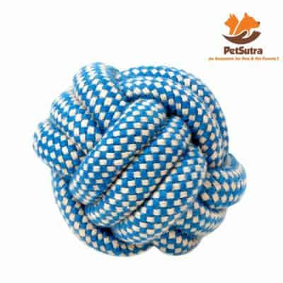PetSutra Cotton Dog Rope Ball Toy