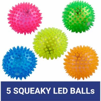 PetSutra LED Squeaky Ball Toy