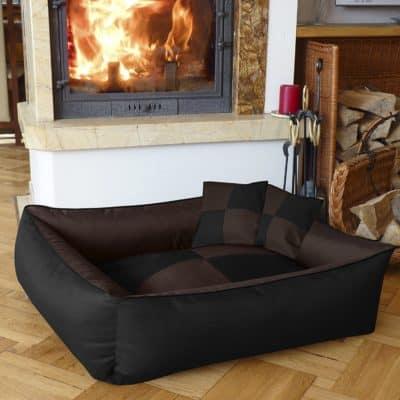 Petitude Square Shape Reversable Dual Ethnic Velvet Bed