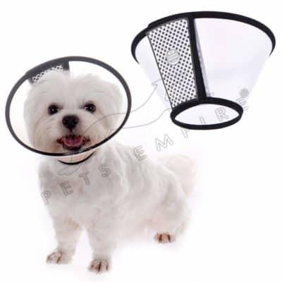 Pets Empire Plastic Velvet Protective Wound Healing Smart Cone E-Collar