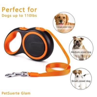Pets Empire Retractable Walking Jogging Training Dog Leash