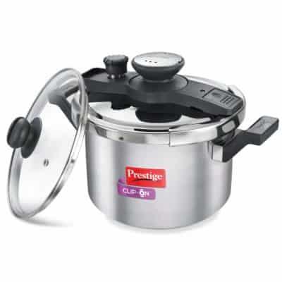 Prestige Clip-On 5-Liter Stainless Steel Pressure Cooker
