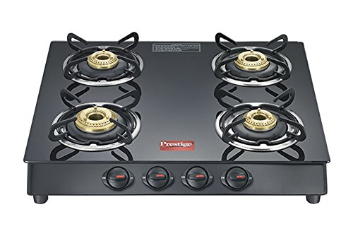 Prestige Marvel Plus Glass, Stainless Steel Manual Gas Stove  (4 Burners)