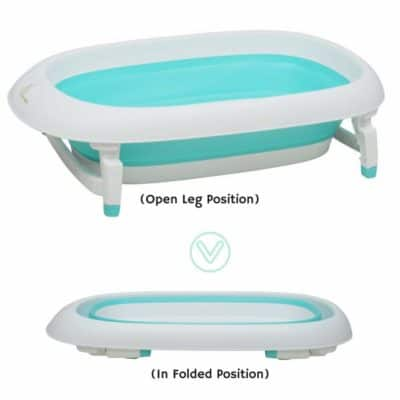 R For Rabbit Bubble Double Elite The Folding Baby Bath Tub For Kids (Green)