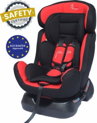 R for Rabbit Jack N Jill Grand Car Seat – The Innovative Convertible Car Seat (Red Black)