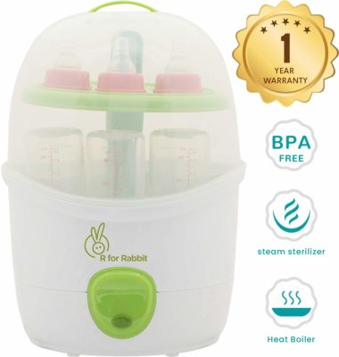 R for Rabbit Peter Fighter Plus - Electric Baby Bottle 2 in 1 Steam Sterilize