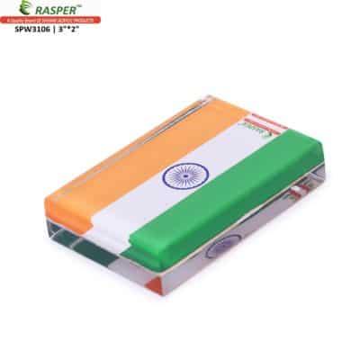 Rasper tricolor paper weight