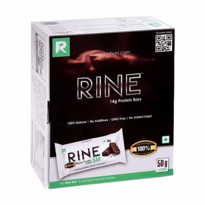 Rine Bars Mighty Chocolate 6 Pack High Protein Bar