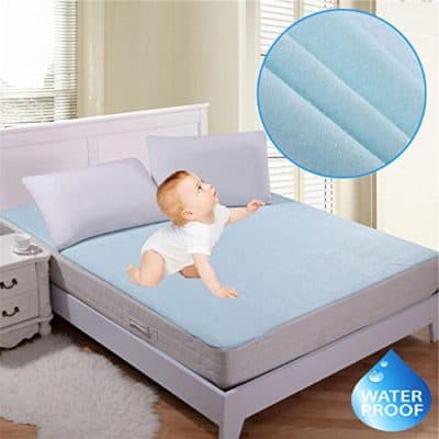 Rite Clique Waterproof Hypoallergenic Mattress Protector (Blue, 72x78 Inches)