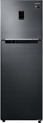 Samsung 345 L 3 Star Frost Free Double Door Refrigerator(RT37M5538BS/HL, Black Inox, Convertible, Inverter Compressor)