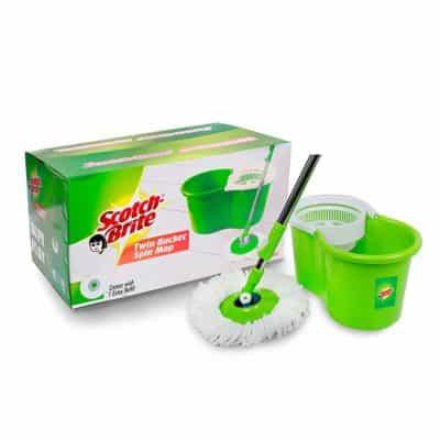 Scotch-brite Twin Bucket Spin Plastic Mop