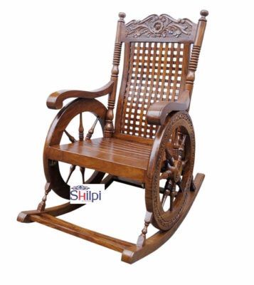 Shilpi Hand Carved Rocking Chair