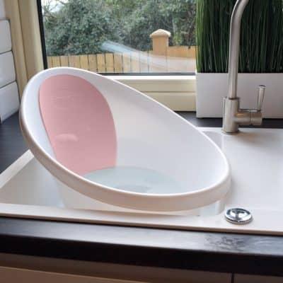 Shnuggle Bath - White With Pink Backrest