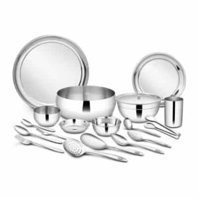 Shri & Sam Stainless Steel 98-Piece Dinner Set