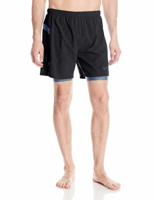 Speedo Men's Hydrosprinter with Compression Swimsuit Shorts Workout & Swim Trunks