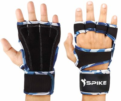Spike Premium Leather Fitness Gym Gloves with Wrist Support Grip and Breathable Glove Design