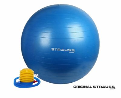 Strauss Anti Burst Gym Ball with foot pump