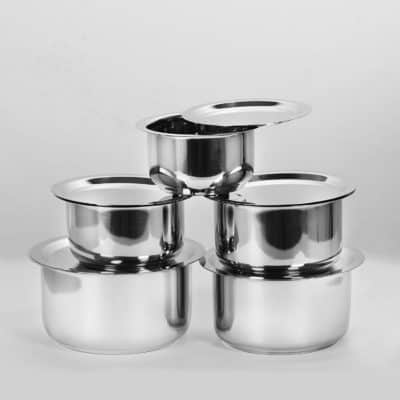 Sumeet 5 Pcs Stainless Steel Container Set / Tope