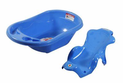Sunbaby Bath Tub with Bath Sling Combo (Blue)