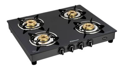 Sunflame GT Pride 4 Burner Glass Top Gas Stove