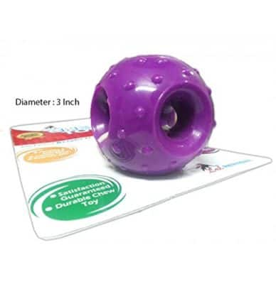 Super Dog Rubber Hole Ball Toy