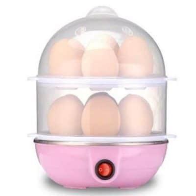 Swarish Double Layer Boiler and Steamer Egg Cooker(14 Eggs)