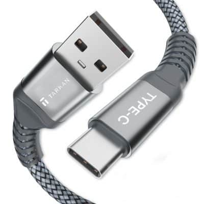 TARKAN USB Type-C to Type-A 3.0 Male Nylon Braided Cable 1.5 Meter