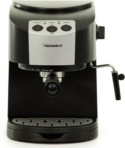 TECNORA Classico TCM 107 M Thermoblock Pump Espresso and Cappuccino Coffee Maker (1050 W, Black)