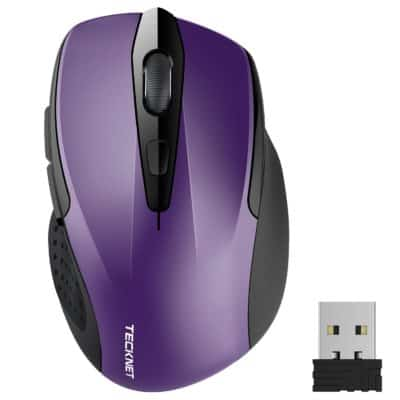 TeckNet Pro 2.4G Wireless Mouse, Nano Receiver,6 Buttons,24 Month Battery Life,2400 DPI