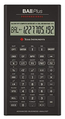 Texas BA-II plus Professional Calculator