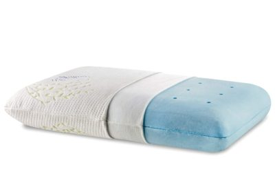 The White Willow Orthopedic Memory Foam Cooling Gel Pillow