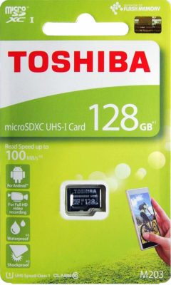 Toshiba M203 128GB Class 10 Micro SD Memory Card