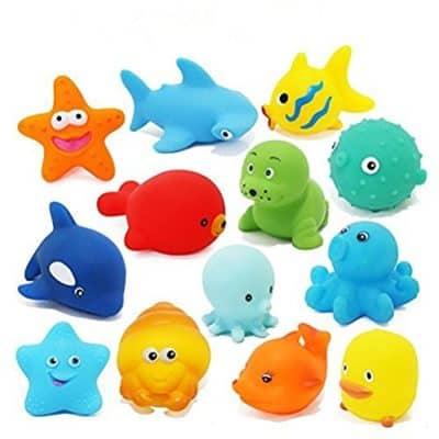 Toywale animal bath Soft Floating Squeaky Bath Toys