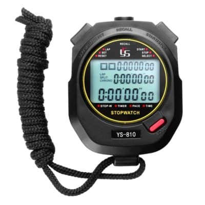 Trendyest Handheld Digital Stopwatch Chronograph Sports Training Timer Stop Watch