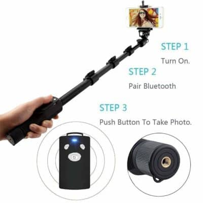 US1984 1288 Bluetooth Selfie Stick for Smartphones and Monopod