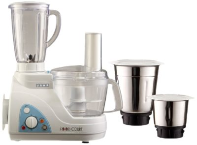 Usha Food Processor 600-Watt with 3 Jars