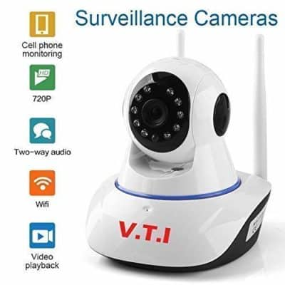V.T.I. IP Dual Antenna WiFi Enabled Wireless Indoor Security Camera with Night Vision