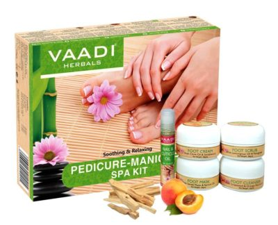 Vaadi Herbals Refreshing and Soothing Pedicure and Manicure SPA Kit