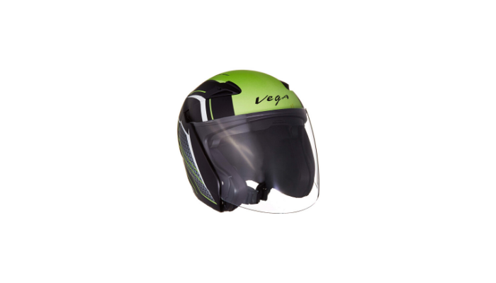 Vega Eclipse Stryk Open Face Helmet Dull Black and Neon Green Review