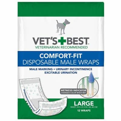 Veterinarian's Best Vet's Best Comfort Fit Disposable Male Dog Diapers