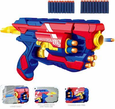 Vivir Blaster Gun Toys for Kids with 10 Soft Foam Bullet Sticks