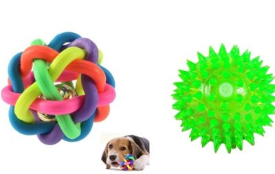 W9 Sound Ball with Bell and Free Led Squeaky Lighting for Dogs and Puppies