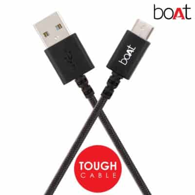 boAt A400 USB Type-C to USB-A 2.0 Male Data Cable